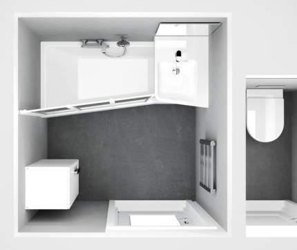 Акриловая ванна Ravak BeHappy II 160х75 R, C971000000