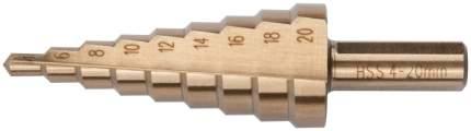 Сверло ступенчатое по металлу, Профи, 9 ступеней, 4-20 мм. FIT 36392