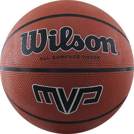 Мяч баскетбольный Wilson MVP WTB1419, 7, коричневый, любительский, клееный