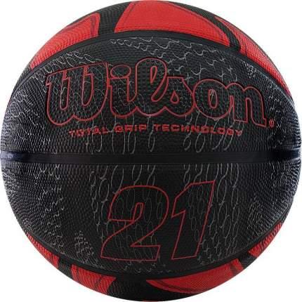 Мяч баскетбольный Wilson 21 Series WTB2103, 7, красный, любительский, клееный