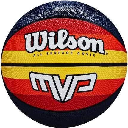 Баскетбольный мяч Wilson MVP Retro №7 красно-желтый/черный