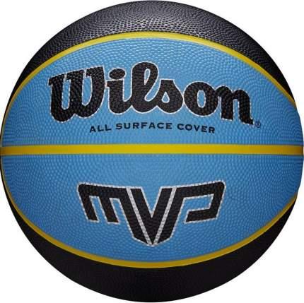Мяч баскетбольный Wilson MVP WTB9019, 7, синий, любительский, клееный