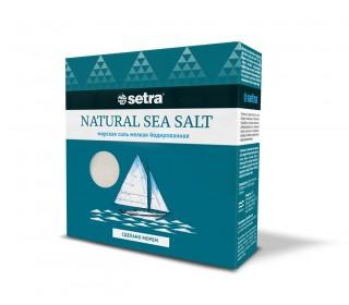 Соль Сетра морская мелкая йодированная 500 г