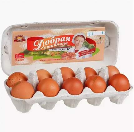 Яйца Добрая птичница категория С0 10 шт