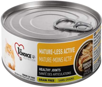Консервы для кошек 1st choice Adult Mature or Less Active с курицей и яблоками 24шт по 85г