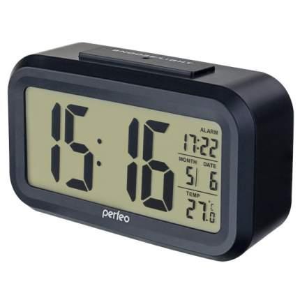 "Perfeo Часы-будильник ""Snuz"", чёрный, (PF-S2166) время, температура, дата"