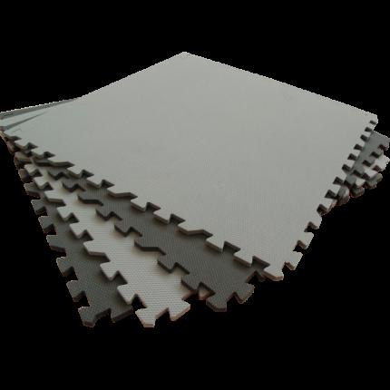 Развивающий коврик Eco Cover 60*60 см черно-серый