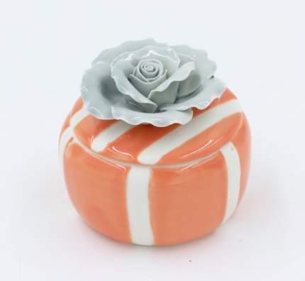 Шкатулка декоративная оранжевая арт.43830 Феникс-Презент