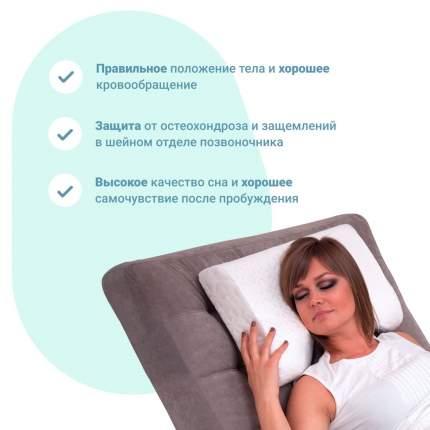 Ортопедическая подушка EcoSapiens Ortosleep PRO c выемкой под плечо, ES-78033