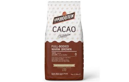 Какао порошок Van Houten  100%  full-bodied warm brown 22-24% 1 кг