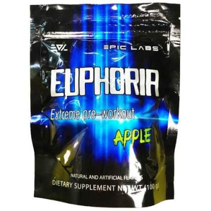 Предтренировочный комплекс Epic Labs Euphoria 100 г apple