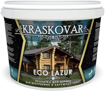 Пропитка для дерева Kraskovar Eco Lazur Орех 9 л