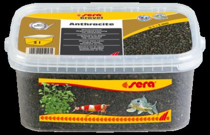 Грунт натуральный для аквариума Gravel Anthracite (Антрацит) d 1-3 мм 3 л