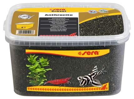 Грунт натуральный для аквариума Gravel Anthracite (Антрацит) d 1-3 мм 6 л