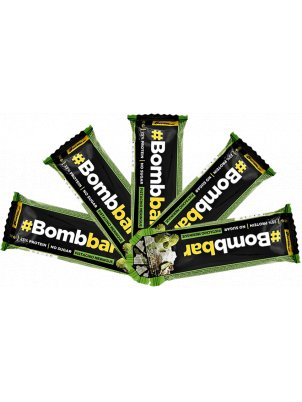 Батончик Bombbar Protein Bar In Chocolate 5 40 г, 5 шт., фисташковая меренга
