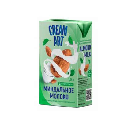 Миндальный напиток CREAMART Миндальное молоко 1.5%, 1л
