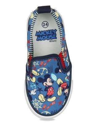 Кеды для мальчиков Mickey Mouse, цв. синий, р-р 22