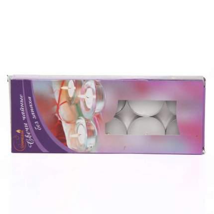 Свечи чайные в гильзе без запаха (10 шт.) картонная коробочка