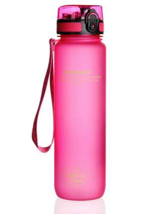 Бутылка для Воды UZSPACE Colorful Frosted 1 литр / 3038/pink