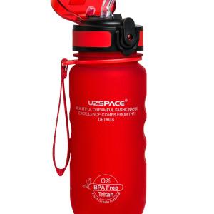 Бутылка для Воды UZSPACE Sports Bottle Straw 350 мл / 1224/red