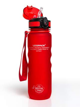 Бутылка для Воды UZSPACE Sports Bottle Straw 500 мл / 3043/red