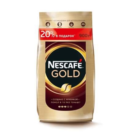 Кофе растворимый Nescafe gold с добавлением молотого пакет 900 г