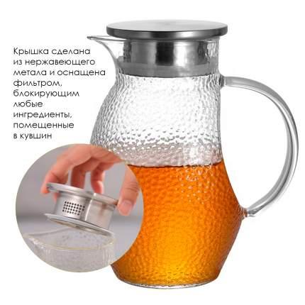 Графин для холодных напитков La Casa Nostra, круглая форма, 1300 мл, 18х8 см