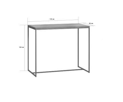 Барный стол Loftyhome Бервин натуральный с белым основанием br050104