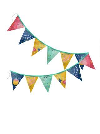 Гирлянда из флажков С Днем Рождения разноцветная sfer.tex