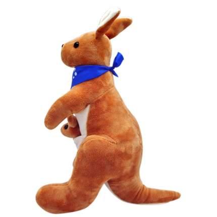 """Мягкая игрушка """"Кенгуру с кенгурёнком в сумке"""", 30 см"""