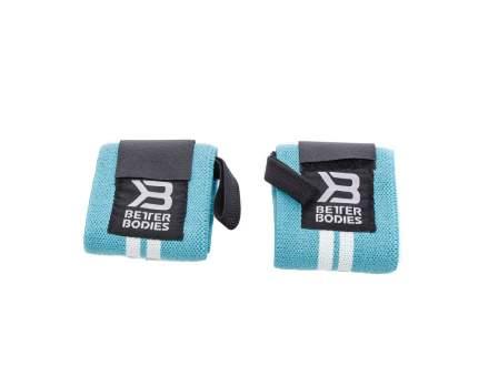 Спортивный бинт Better Bodies Wrist Wraps 130321-529 голубой/черный 33 см