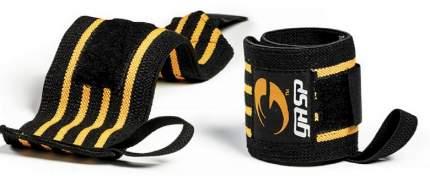 Спортивный бинт Gasp Wrist Wraps 230070-999 желтый/черный 33 см