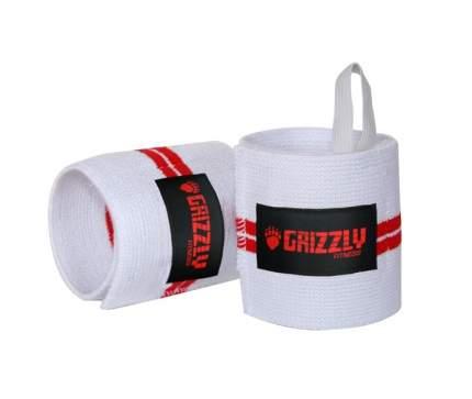Спортивный бинт Grizzly Red Line Wrist Wrap белый/красный 28 см