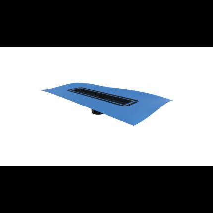 Душевой лоток Berges Wasserhaus Simpel 400 боковой выпуск цвет матовый хром (09 01 10)
