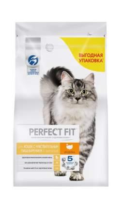 Сухой корм для кошек Perfect Fit Sensitive, при чувствительном пищеварении, индейка, 2,5кг