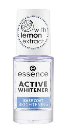 Покрытие для ногтей essence базовое отбеливающее active whitener brightening