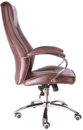 Компьютерное кресло Long TM/Экокожа коричневая
