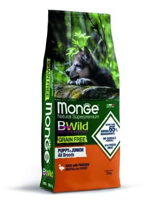Сухой корм Monge Dog Grain Free Утка с картофелем беззерновой для щенков всех пород 12 кг