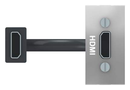 SE Unica Modular Алюминий Розетка HDMI, 1 модуль