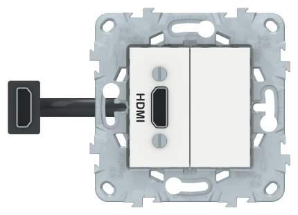 SE Unica New Белая Розетка HDMI