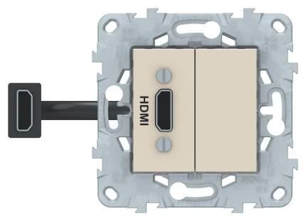 SE Unica New Бежевая Розетка HDMI