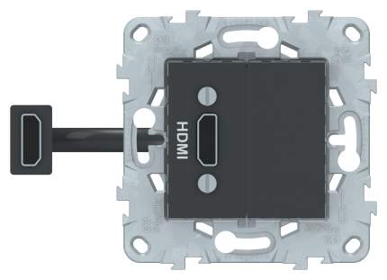 SE Unica New Антрацит Розетка HDMI