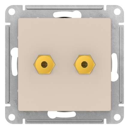SE AtlasDesign Бежевая Аудиорозетка двухместная