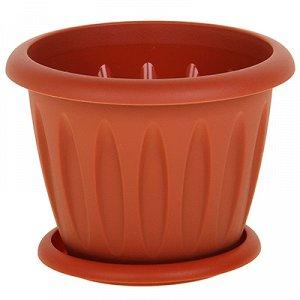 """Горшок для растений """"Фелиция"""", 0,4 л, цвет: терракотовый"""