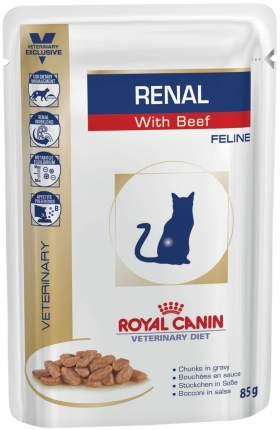 Влажный корм для кошек ROYAL CANIN Renal при почечной недостаточности говядина 12шт по 85г
