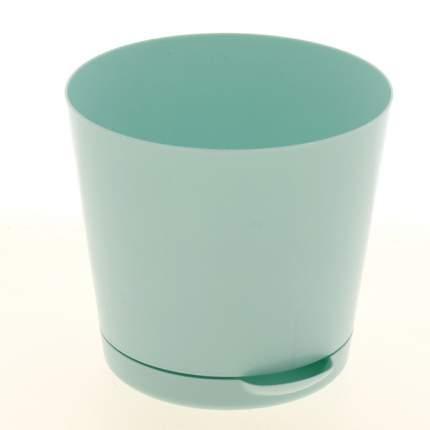 """Горшок для цветов """"Easy Grow"""" с прикорневым поливом, 160 мм, 2 л, цвет: голубой"""