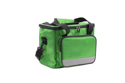 Сумка-холодильник на ремне, цвет: зеленый, 33x23x28 см