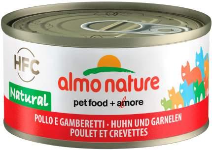 Консервы для кошек Almo Nature HFC Legend, с курицей и креветками, 24шт по 70г