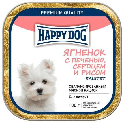 Консервы для щенков Happy Dog для мелких пород, ягненок, печень, сердце, рис, 15шт по 100г