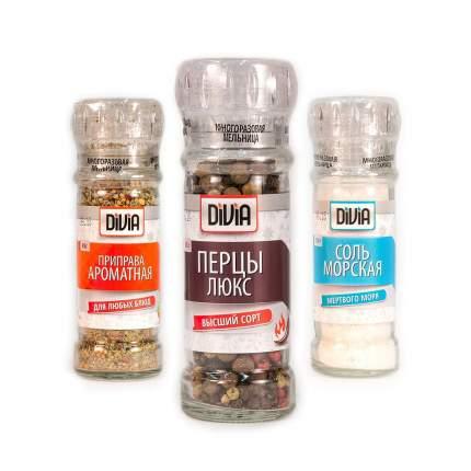 Набор №12 Divia collection соль универсальная-перцы люкс-соль острая-коробочка
